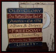 Small Picture Americana Patriotic Decorations Let Freedom Ring Shelf Sign