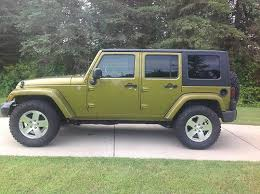 2008 jeep wrangler unlimited sahara 4 door 3 8l rescue green 6 sd manual