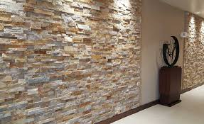 gold stacking ledgestone panel veneer used on walls of hampton inn hotel in florida