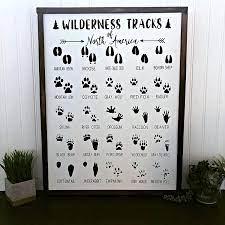 Shop for animal tracks wall art. Amazon Com Sun81814 Animal Footprints Sign Animal Tracks Sign Safari Nursery Decor Animal Bedroom Decor Jungle Bedroom Decor Playroom Sign Zoo Sign Posters Prints