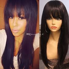 straight bang wig remy human lace wigs