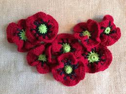 Knitted Flower Pattern Adorable August Flower Of The Month Poppy Knitting Crochet Patterns