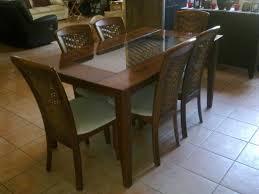 imposing design dining room table set rattan dining set dining table sets half glass