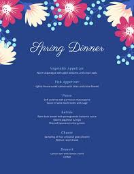 Event Menu Template Delectable Customize 48 Dinner Party Menu Templates Online Canva
