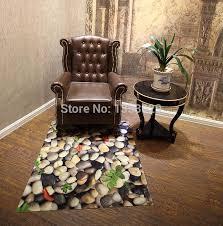 3d cobblestone rugs for home indoor hallway skidproof area rug for doorway kitchen bathroom living room waterproof