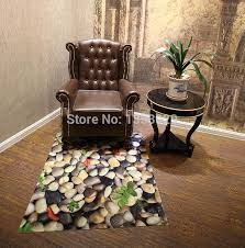 3d cobblestone rugs for home indoor hallway skidproof area rug for doorway kitchen bathroom living room waterproof