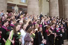 Вручение дипломов на историческом факультете МГУ  Вручение синих дипломов фотографии И А Ильяшенко