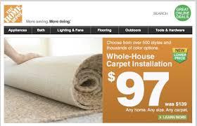 home depot carpet install