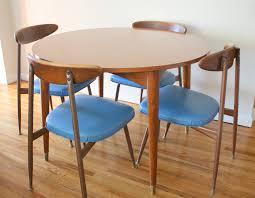 Round Mid Century Dining Table Starrkingschool - Round modern dining room sets