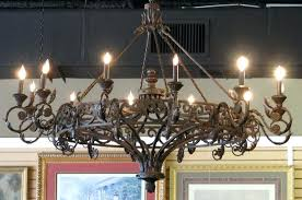 old wrought iron chandeliers