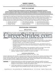 Senior Staff Accountant Resume Sample Template Objective Career
