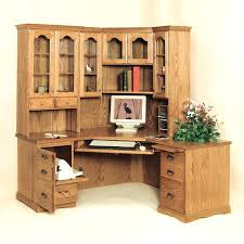 solid wood computer desk with hutch traditional corner desk hutch throughout design 1 solid wood computer