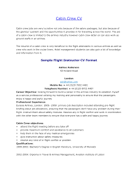 Career Objective For Cabin Crew Resume Resume Ideas