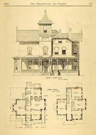 plans for of victorian house post
