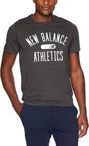 New Balance Mens <b>Nb Athletics</b> Heather Tech Short <b>Sleeve</b> Tee