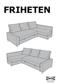 ikea friheten l shaped sofa bed with