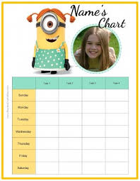 Free Custom Behavior Chart With The Minions Customize