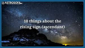 Rising Star Sign Chart Calculate Your Rising Sign Ascendant Astrosofa Com