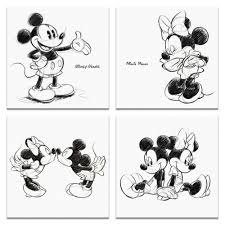 アートデリミッキーミニーの壁掛けアートセット インテリア 雑貨 アート ミッキーマウス ミニーマウス