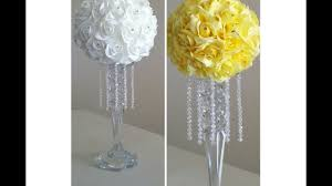diy crystal rose candle stick chandelier centerpiece