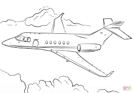 Jet Airplane coloring page | Free Printable Coloring Pages