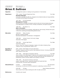 Example Of A Good Chronological Resume