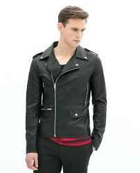 exotic zara mens quilted leather jacket image 2 of faux leather biker jacket from men fashion