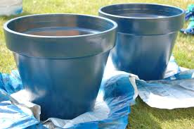 Painting Terracotta pots with gloss spray paint - SO DOING THIS next  weekend :) garden