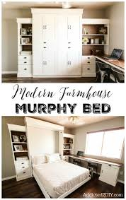 office wall bed. Learn How To Build This Stunning Modern Farmhouse Murphy Bed For Your Home! The Tutorial And FREE Plans Are Easy Follow You Won\u0027t Have Give Up Office Wall