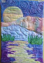 Easy landscape art quilt pattern tutorial : moon over the ... & Easy landscape art quilt pattern tutorial : moon over the mountains Adamdwight.com