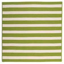 baxter lime 12 ft x 12 ft square indoor outdoor braided area rug