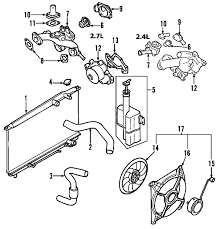 parts com® kia fan cooling partnumber 252311f000 2007 kia sportage ex v6 2 7 liter gas cooling fan