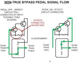 what is a true bypass guitar pedal end bad tone l not true bypass