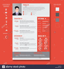 Bos Chart Template Vector Creative Minimalist Cv Resume Template With Photo