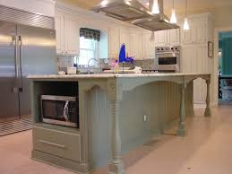 Granite Topped Kitchen Island Beige Painting Cabinet With Beige Granite Top White Ceramic Tile