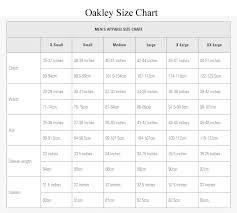 Oakley Flak Jacket Size Chart