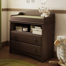 image of grey changing table dresser