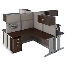Office cubicle desk Call Center Office In An Hour Person Shaped Cubicle Workstations In Mocha Cherry Amazoncom Amazoncom Office In An Hour Person Shaped Cubicle Workstations