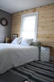 diy shiplap paneling as a custom bedroom headboard merrypad intended for exciting diy shiplap headboard for your home idea