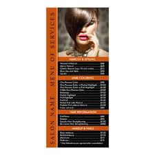 Spa Menu Of Services Template Hair Or Nail Salon Rack Card Template Service Menu In 2019 Spa And