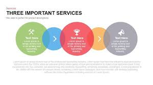 Slide Circle 3 Important Services Powerpoint Template And Keynote Slide