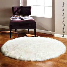 fur accents round bearskin rug fake polar bear faux golf rugs sheepskin kitchen dining pad vintage