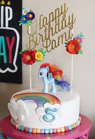 my little pony rainbow pony birthday cake