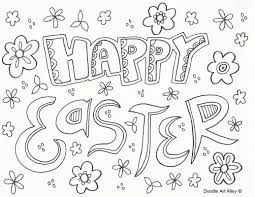 Happy Easter Coloring Pages - creativemove.me