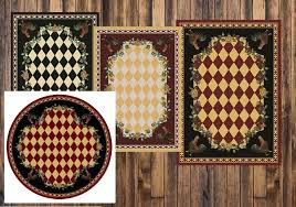 high country rooster area rug collection southern creek rustic furnishings