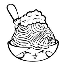 Netty Spaghetti Schatig Kleurplaten Shopkins En Spaghetti