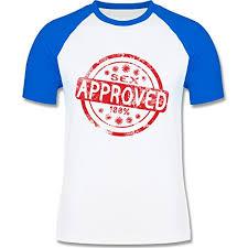 Lustige Sprüche Sex Approved L140 Männer Raglan Baseball Shirt Weiß