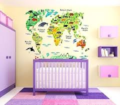 nursery wall animal world map peel stick nursery wall decals stickers nursery wall art nz  on nursery wall art nz with nursery wall baby nursery tree wall decal nursery wall decals nz