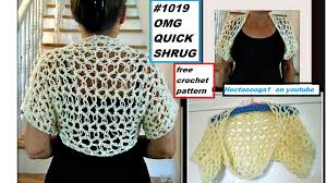 Youtube Free Crochet Patterns Fascinating OMG QUICK SHRUG Free Crochet Pattern Tutorial Pattern48 Video