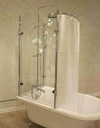 tubs shower enclosures acrylic tub with glass enclosure regard to ideas clawfoot and riser exposed wall mount thermo